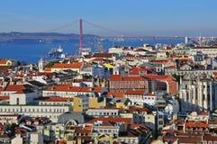 Cityscape van Lissabon Stock Foto's