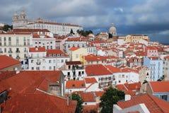 Cityscape van Lissabon, Portugal Stock Foto's