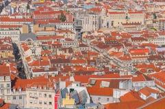 Cityscape van Lissabon, Portugal Stock Afbeelding