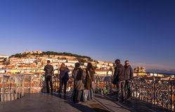 Cityscape van Lissabon, Portugal, van Portas wordt gezien doet Sol die, stock foto's