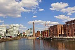 Cityscape van Liverpool Stock Afbeelding