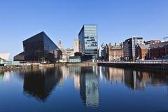 Cityscape van Liverpool Stock Foto's
