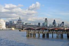 Cityscape van Londen Stock Afbeeldingen