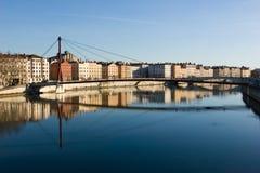 Cityscape van Lyon Stock Afbeelding