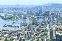 Cityscape van Macao Royalty-vrije Stock Foto's