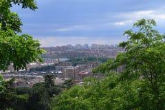 Cityscape van Madrid Stock Afbeelding