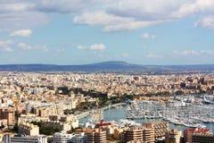 Cityscape van Majorca stock fotografie