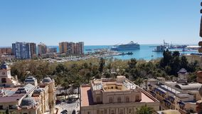 Cityscape van Malaga stock fotografie