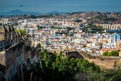 Cityscape van Malaga Stock Afbeeldingen