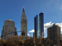 Cityscape van Manhattan stock afbeelding