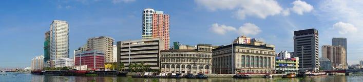 Cityscape van Manilla, Filippijnen Stock Foto