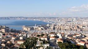 Cityscape van Marseille, Frankrijk stock footage