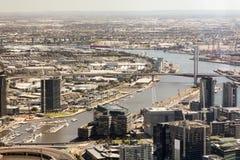 Cityscape van Melbourne Stock Foto's