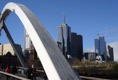 Cityscape van Melbourne Stock Afbeeldingen