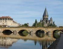 Cityscape van Metz royalty-vrije stock afbeeldingen