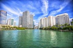 Cityscape van Miami op een zonnige dag, Florida Stock Fotografie