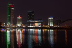 Cityscape van Minsk stock fotografie
