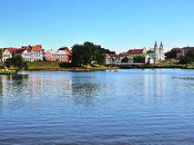Cityscape van Minsk Royalty-vrije Stock Foto's