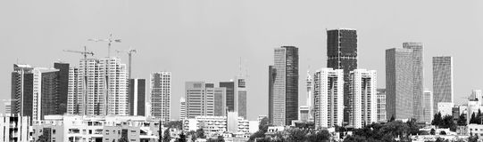 Cityscape van moderne stad royalty-vrije stock afbeelding