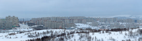 Cityscape van Moermansk Royalty-vrije Stock Fotografie