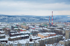Cityscape van Moermansk Stock Fotografie
