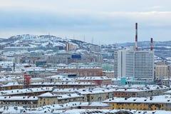 Cityscape van Moermansk Stock Foto's