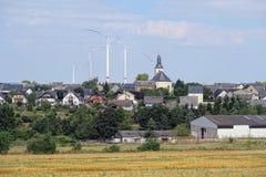 Cityscape van Moersdorf in Rijnland-Palatinaat, Duitsland dorp Royalty-vrije Stock Foto