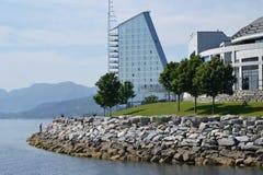 Cityscape van Molde, Noorwegen Royalty-vrije Stock Fotografie