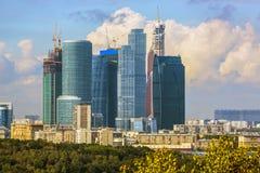 Cityscape van Moskou - de Stad van Moskou Stock Afbeelding