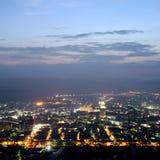 Cityscape van nacht Stock Afbeelding