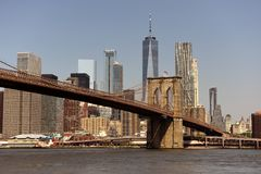Cityscape van New York De Stad van New York, financieel district in lager M royalty-vrije stock afbeelding