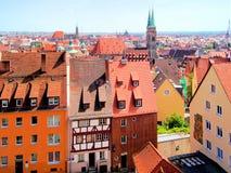 Cityscape van Nuremberg royalty-vrije stock afbeelding