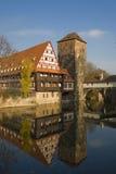 Cityscape van Nuremberg in de herfst Stock Afbeelding