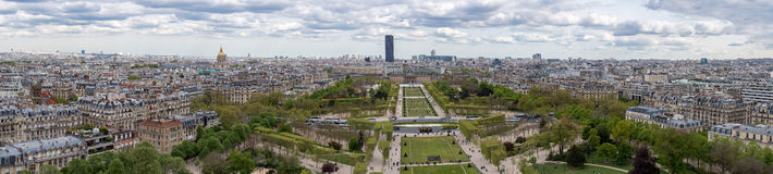 Cityscape van Parijs luchtmeningspanorama Royalty-vrije Stock Afbeelding