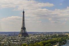 Cityscape van Parijs met de toren van Eiffel Royalty-vrije Stock Foto