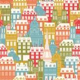Cityscape van Parijs patroon Stock Afbeelding