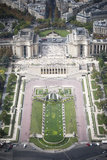 Cityscape van Parijs. Trocadero Royalty-vrije Stock Afbeelding