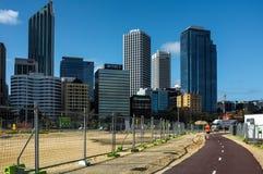 Cityscape van Perth Stock Afbeeldingen