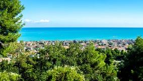 Cityscape van Pescara in Italië royalty-vrije stock afbeeldingen