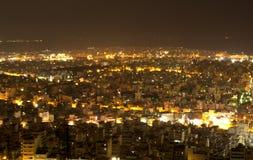 Cityscape van Pireaus en Athene Griekenland stock foto's