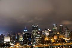 Cityscape van Pittsburg Stock Foto's