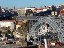 Cityscape van Porto, Portugal royalty-vrije stock afbeelding