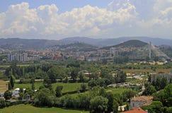 Cityscape van Portugese stad Coimbra Stock Afbeeldingen