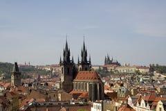 Cityscape van Praag Stock Foto's