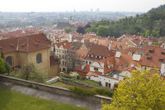 Cityscape van Praag Stock Foto