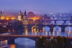 Cityscape van Praag - Tsjechische Republiek royalty-vrije stock afbeeldingen