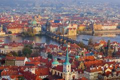 Cityscape van Praag - Tsjechische Republiek stock afbeeldingen