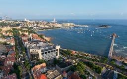 Cityscape van Qingdao stock afbeelding