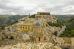 Cityscape van Ragusa Ibla Royalty-vrije Stock Fotografie