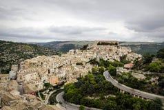 Cityscape van Ragusa Ibla Stock Foto's